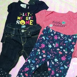 Baby Girl 3-6 Months suits Bundle Pink & Blue
